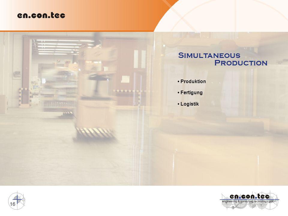 Simultaneous Production • Produktion • Fertigung • Logistik