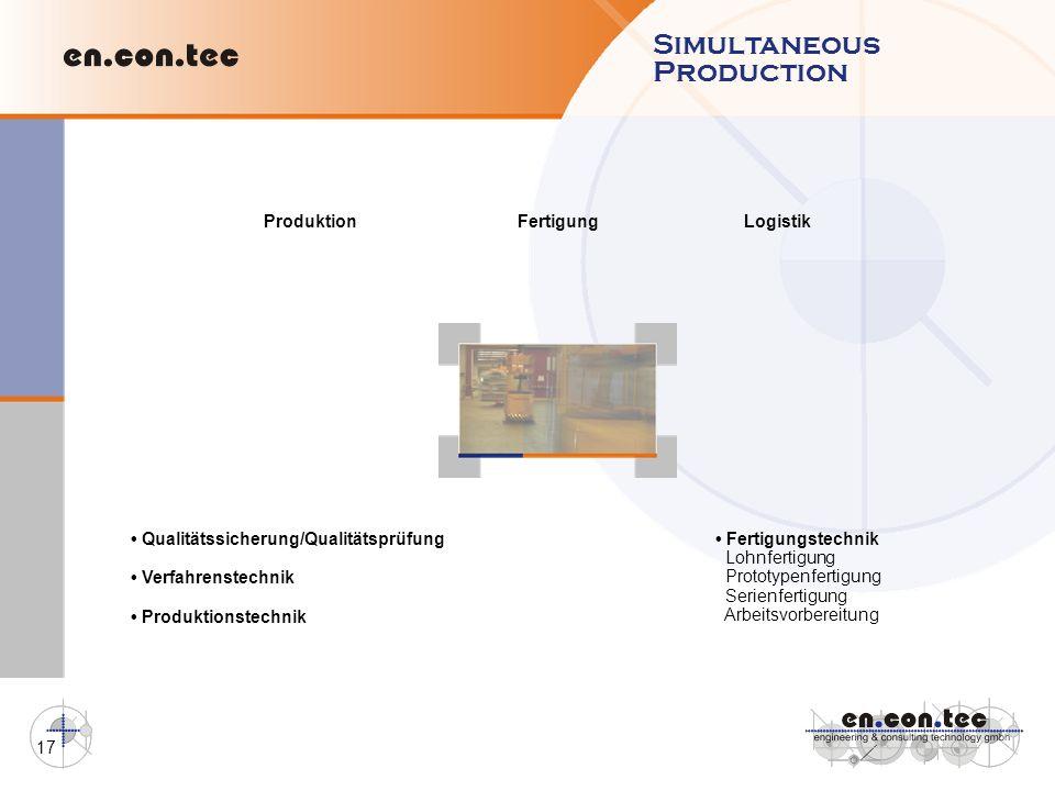 Simultaneous Production Produktion Fertigung Logistik