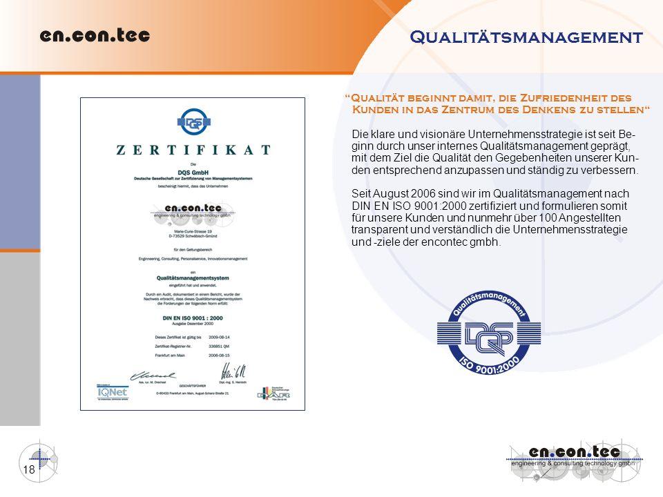 Qualitätsmanagement Qualität beginnt damit, die Zufriedenheit des