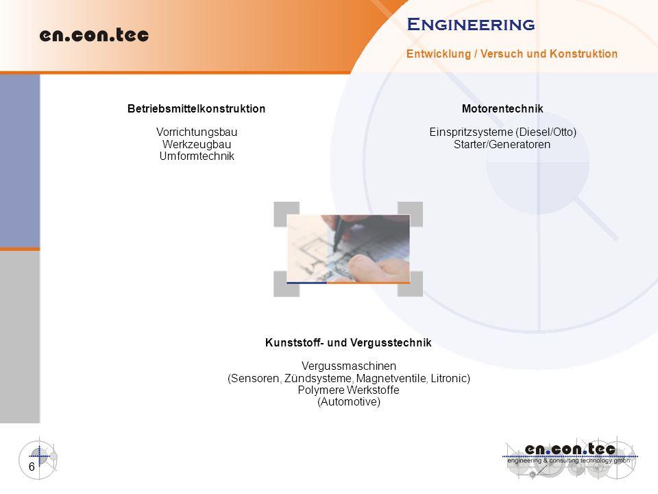 Betriebsmittelkonstruktion Kunststoff- und Vergusstechnik