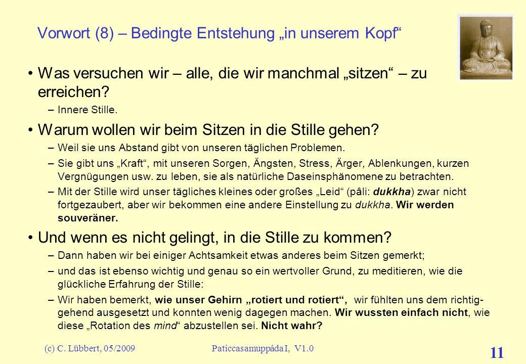 """Vorwort (8) – Bedingte Entstehung """"in unserem Kopf"""