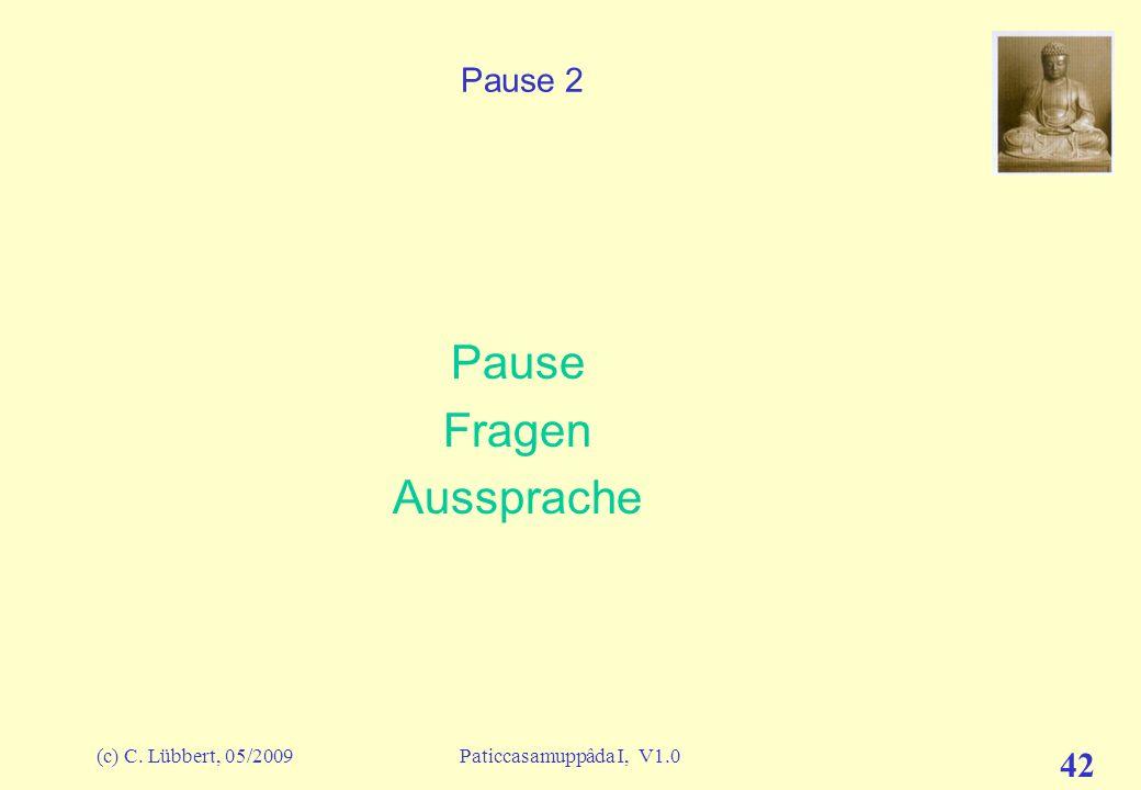 Pause Fragen Aussprache Pause 2 (c) C. Lübbert, 05/2009