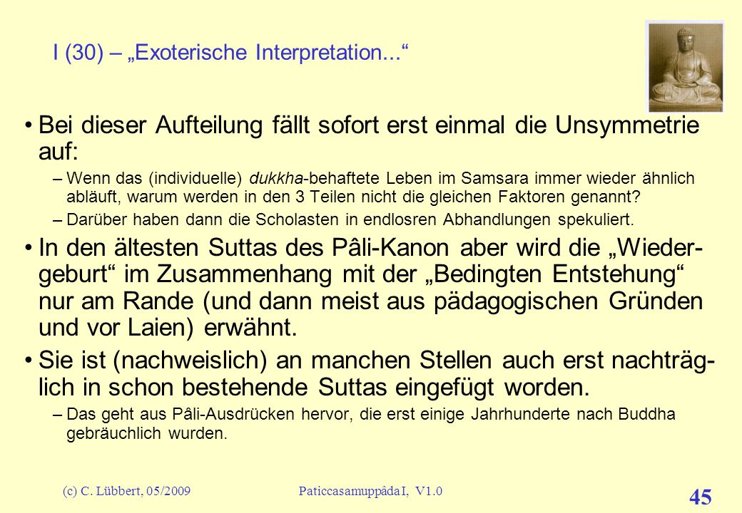 "I (30) – ""Exoterische Interpretation..."