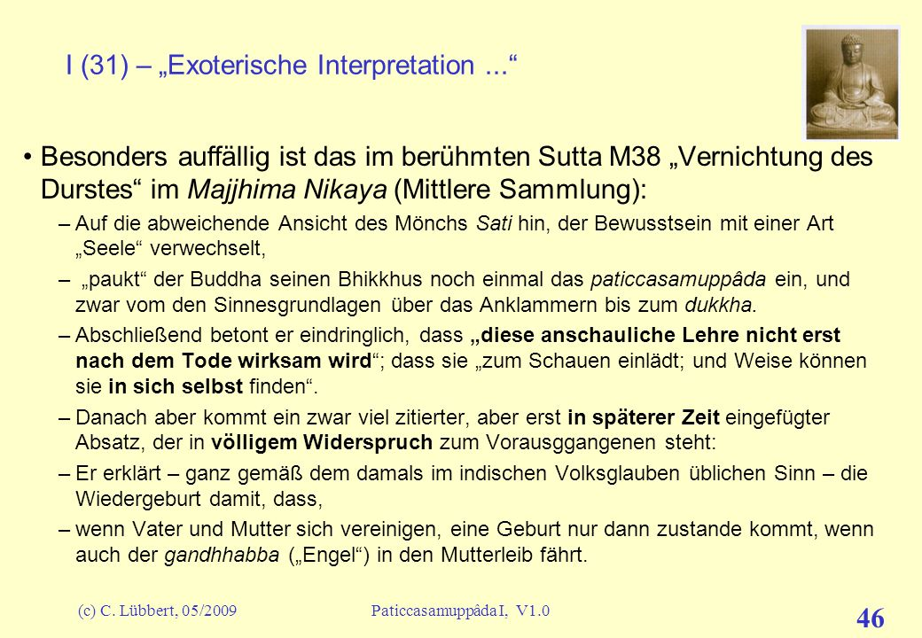 "I (31) – ""Exoterische Interpretation ..."