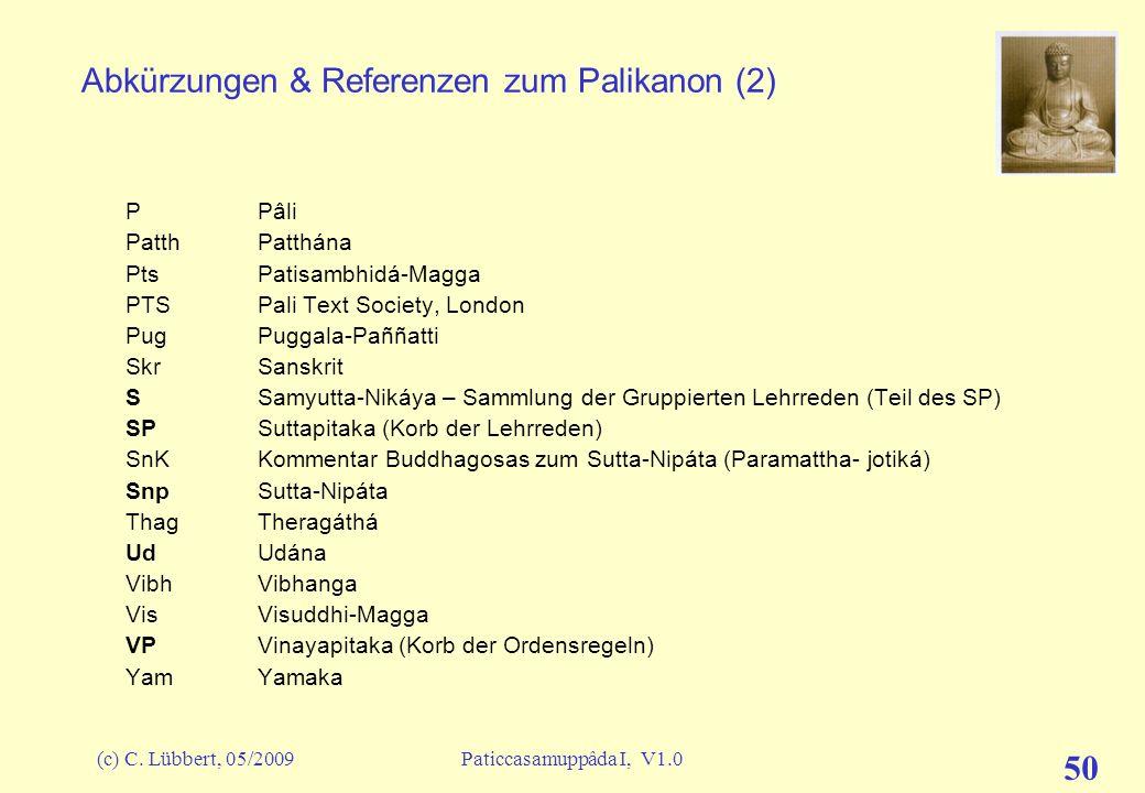 Abkürzungen & Referenzen zum Palikanon (2)