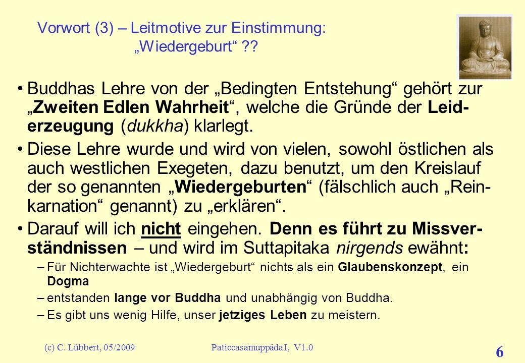 """Vorwort (3) – Leitmotive zur Einstimmung: """"Wiedergeburt"""