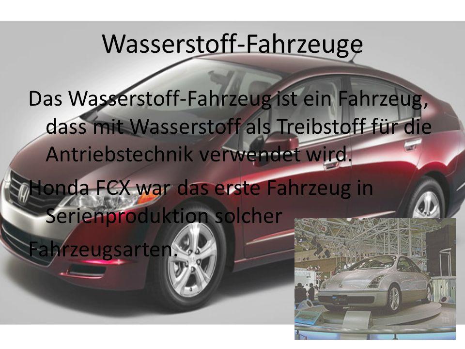 Wasserstoff-Fahrzeuge