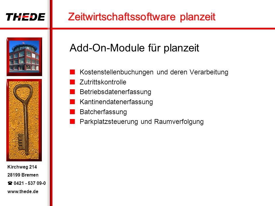 Add-On-Module für planzeit