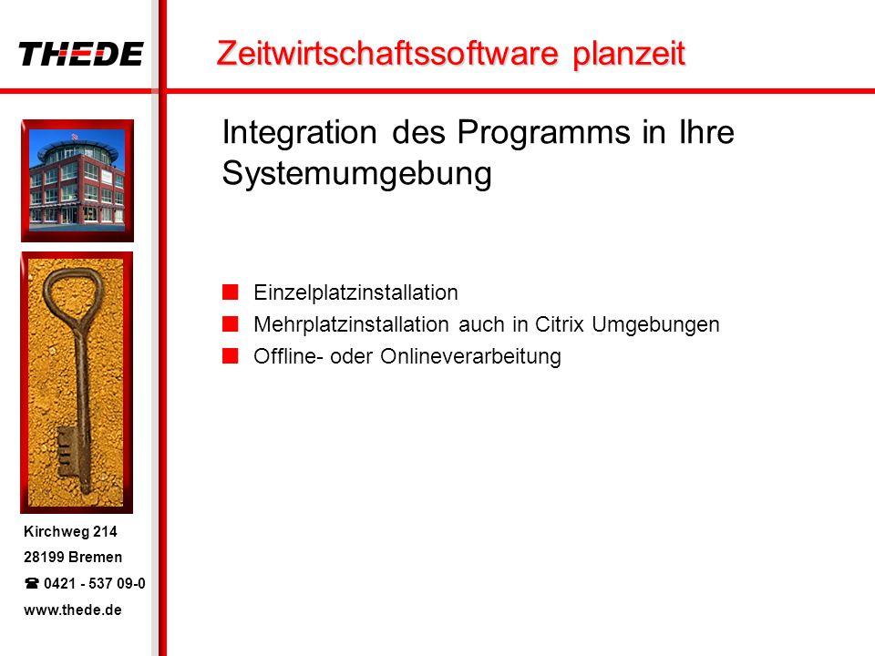 Integration des Programms in Ihre Systemumgebung