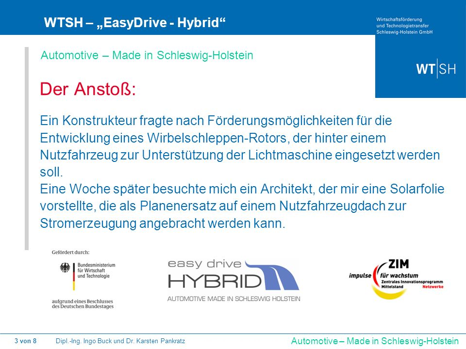 """Der Anstoß: WTSH – """"EasyDrive - Hybrid"""