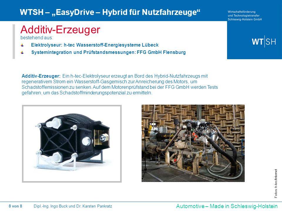 "Additiv-Erzeuger WTSH – ""EasyDrive – Hybrid für Nutzfahrzeuge"