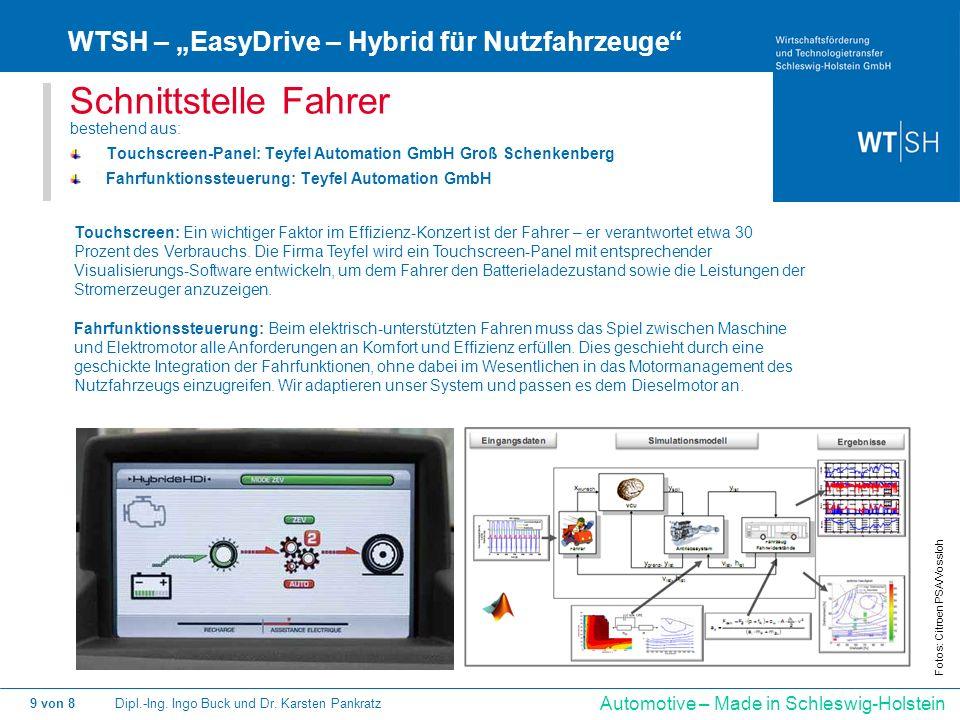 """Schnittstelle Fahrer WTSH – """"EasyDrive – Hybrid für Nutzfahrzeuge"""