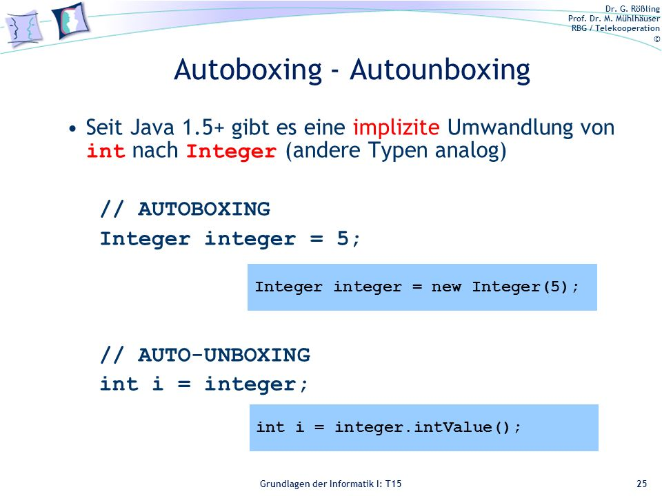 Autoboxing - Autounboxing