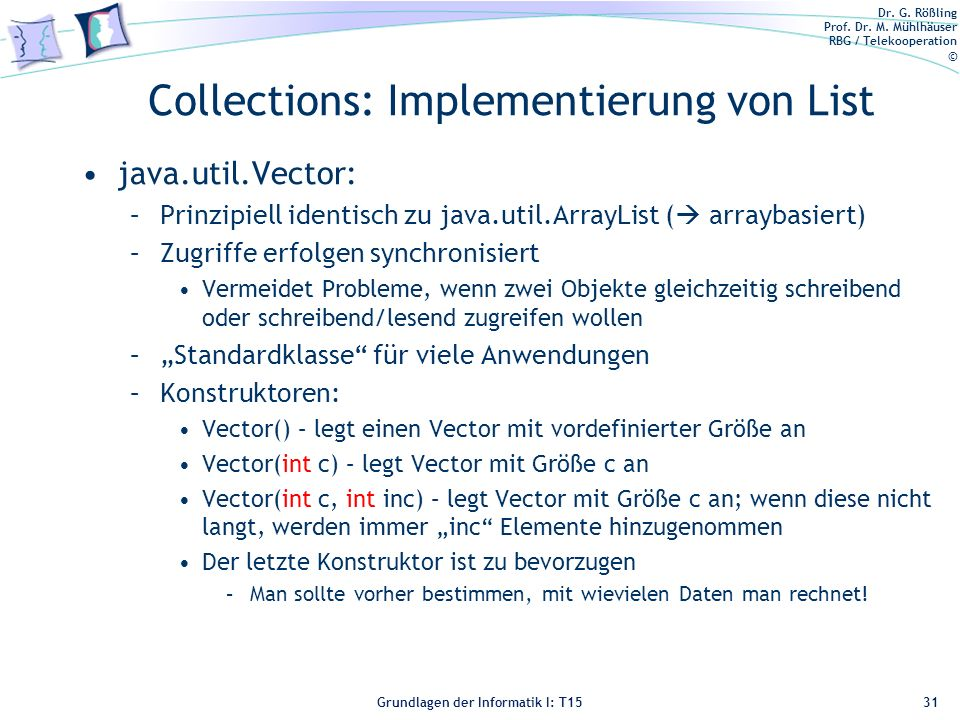 Collections: Implementierung von List