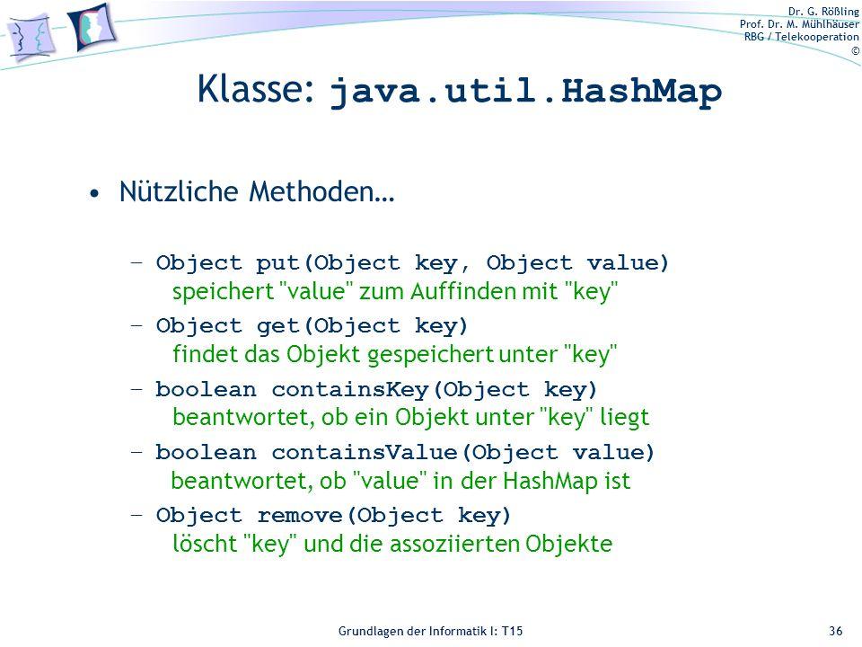 Klasse: java.util.HashMap