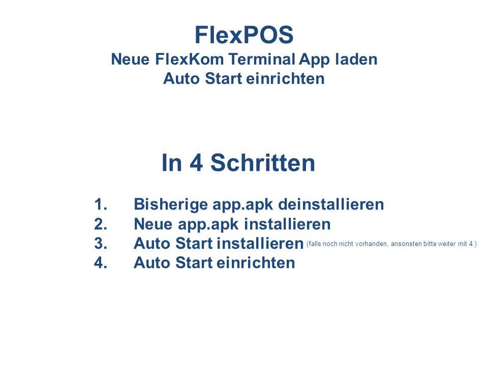 Neue FlexKom Terminal App laden