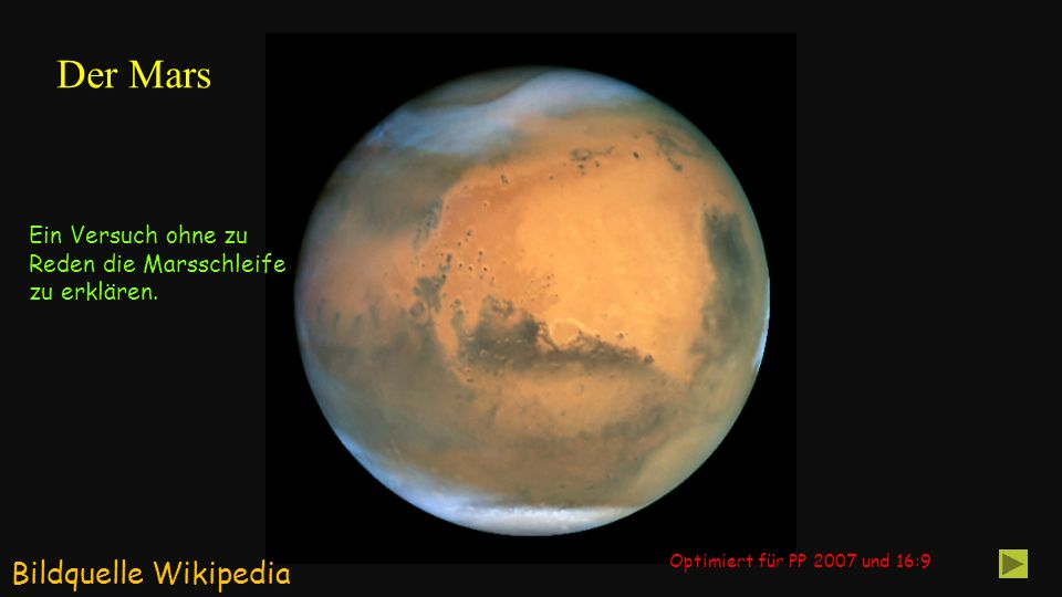 Der Mars Bildquelle Wikipedia Ein Versuch ohne zu