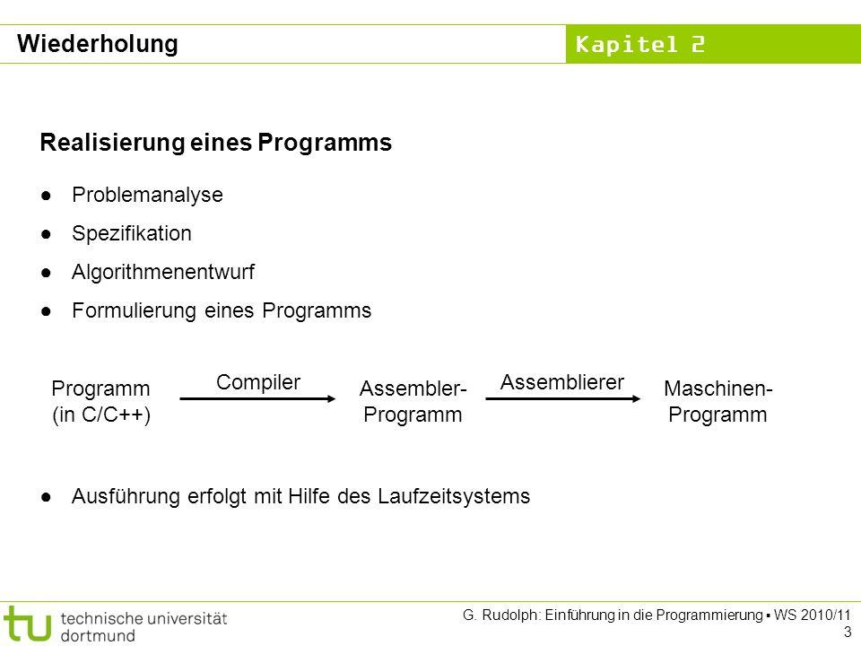 Realisierung eines Programms