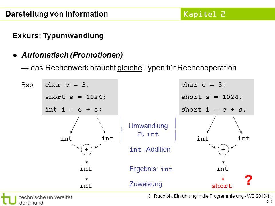 Darstellung von Information Exkurs: Typumwandlung