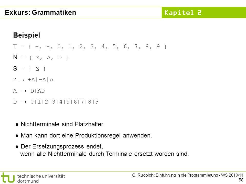 Exkurs: Grammatiken Beispiel