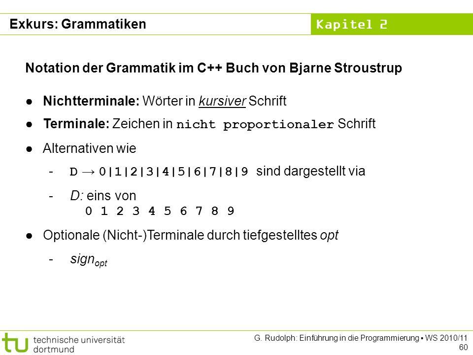 Notation der Grammatik im C++ Buch von Bjarne Stroustrup