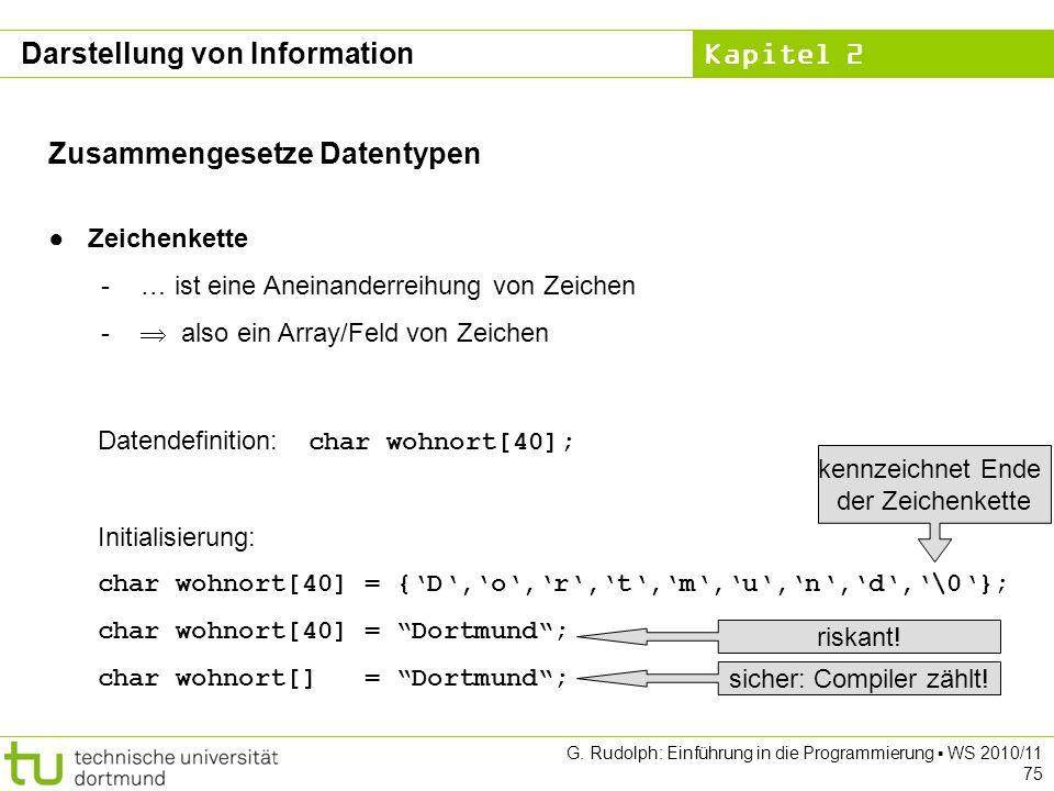 sicher: Compiler zählt!