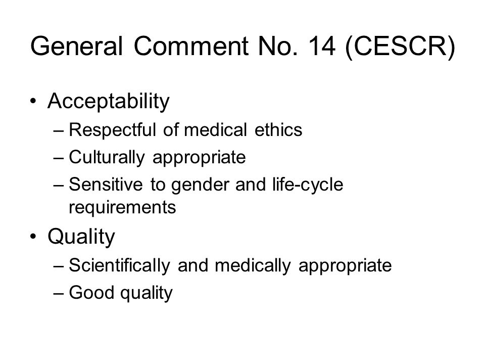 General Comment No. 14 (CESCR)