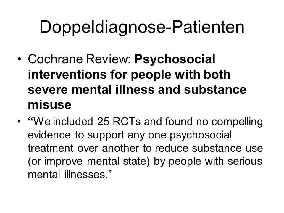 Doppeldiagnose-Patienten