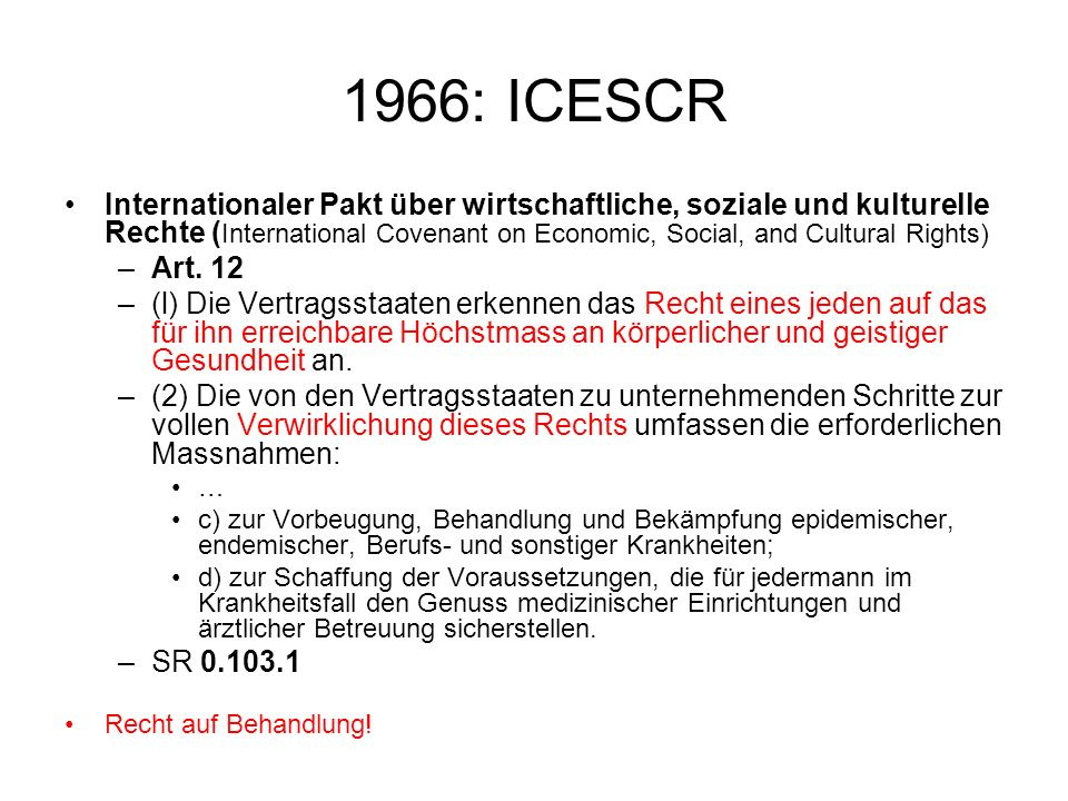 1966: ICESCR