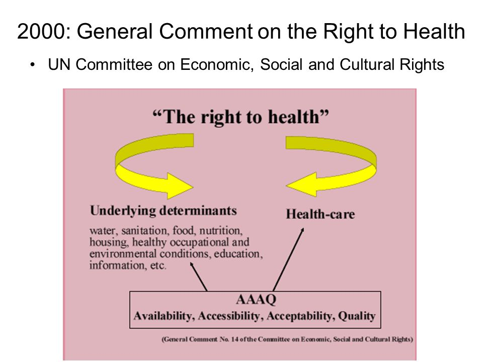 2000: General Comment on the Right to Health