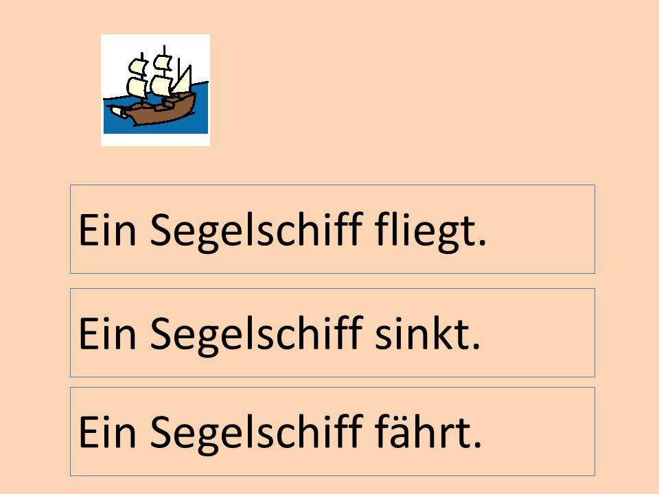 Ein Segelschiff fliegt.