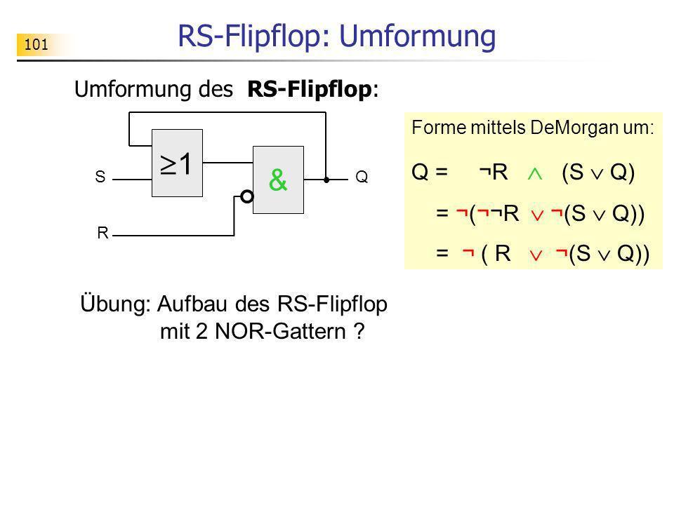 RS-Flipflop: Umformung