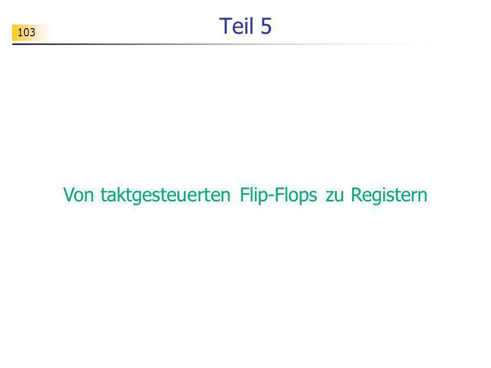 Von taktgesteuerten Flip-Flops zu Registern