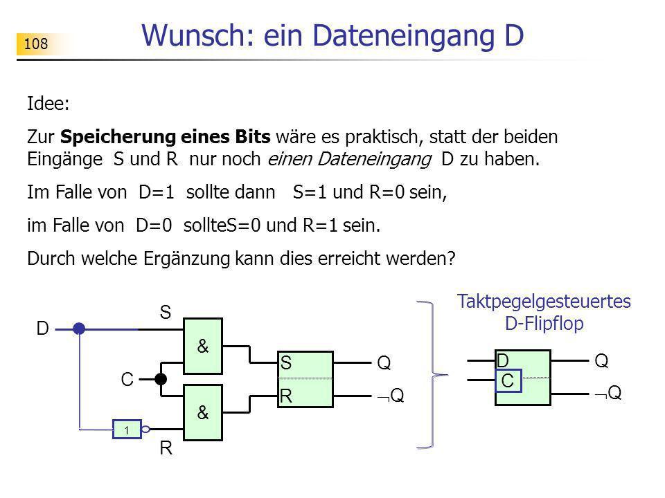 Wunsch: ein Dateneingang D