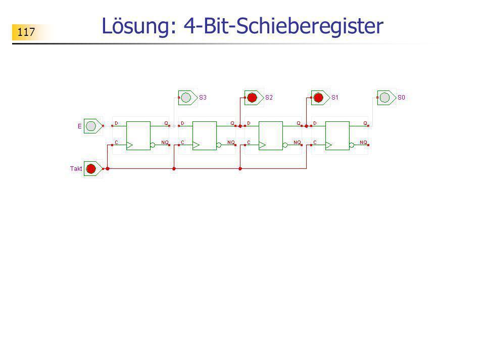 Lösung: 4-Bit-Schieberegister