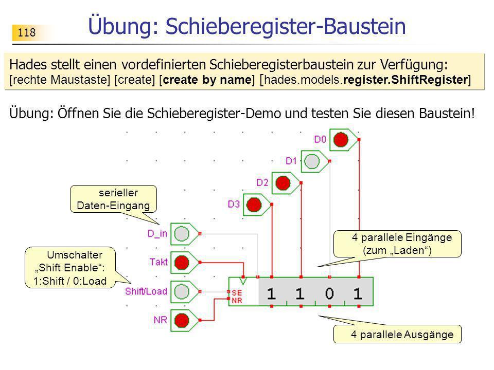 Übung: Schieberegister-Baustein