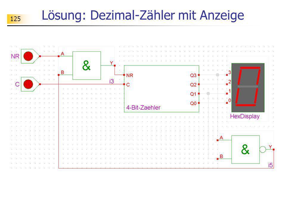 Lösung: Dezimal-Zähler mit Anzeige