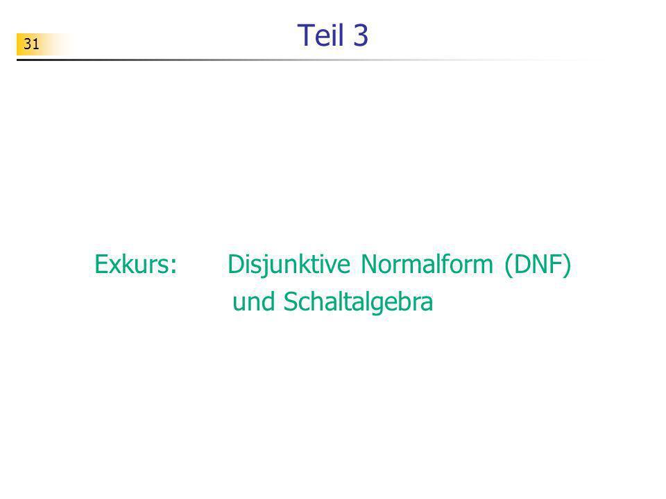 Exkurs: Disjunktive Normalform (DNF)