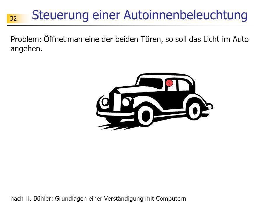 Steuerung einer Autoinnenbeleuchtung