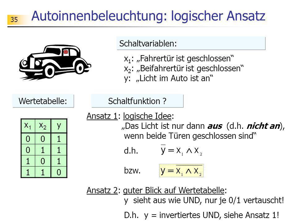 Autoinnenbeleuchtung: logischer Ansatz