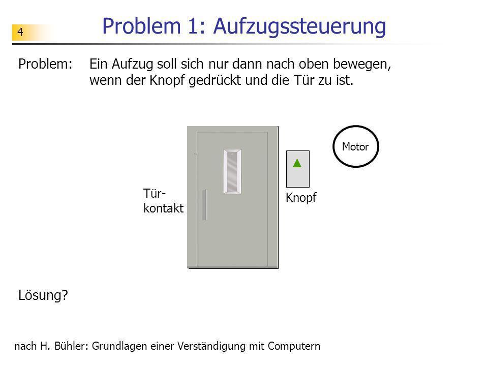Problem 1: Aufzugssteuerung