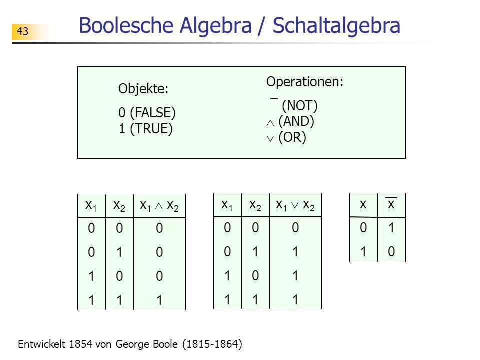 Boolesche Algebra / Schaltalgebra