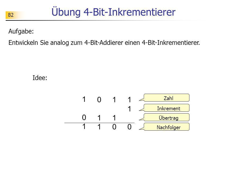Übung 4-Bit-Inkrementierer