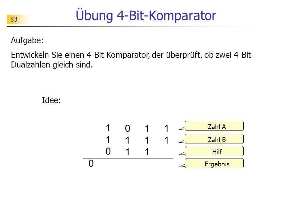 Übung 4-Bit-Komparator