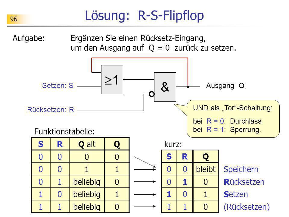 Lösung: R-S-Flipflop 1 &