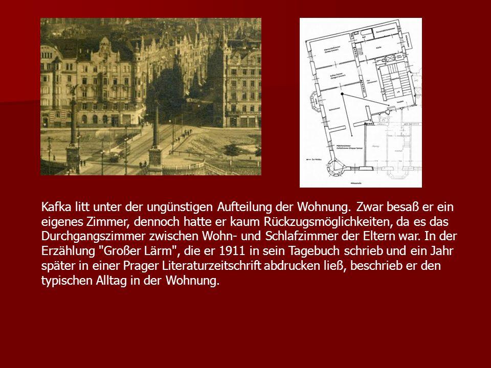 Kafka litt unter der ungünstigen Aufteilung der Wohnung
