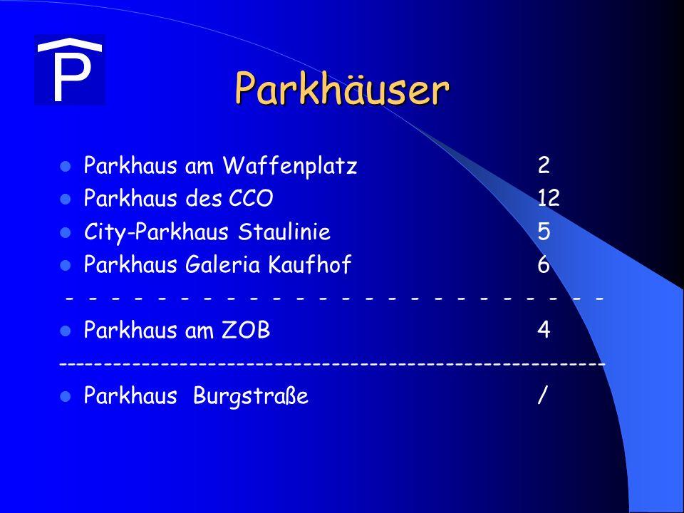 Parkhäuser Parkhaus am Waffenplatz 2 Parkhaus des CCO 12