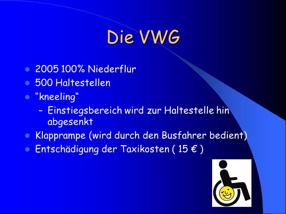 Die VWG 2005 100% Niederflur 500 Haltestellen kneeling