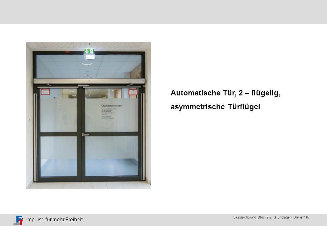Automatische Tür, 2 – flügelig,