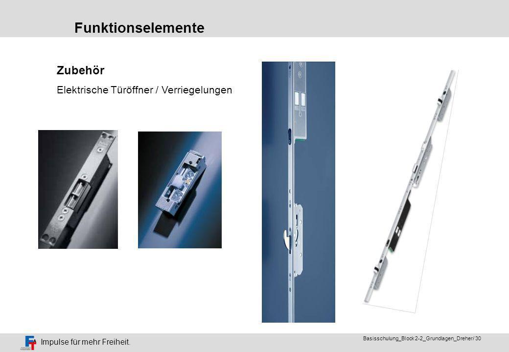 Funktionselemente Zubehör Elektrische Türöffner / Verriegelungen